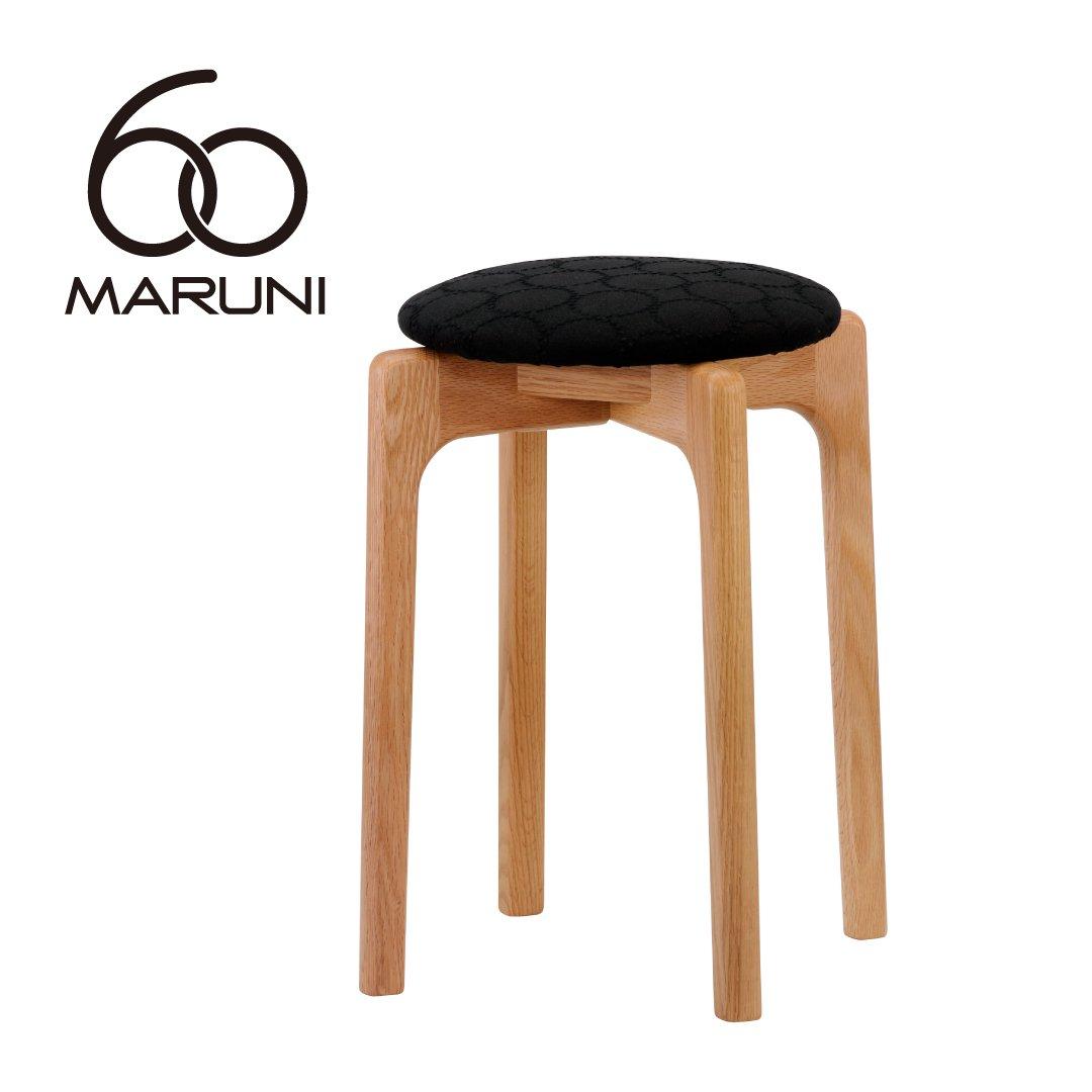 マルニ60+ オークフレーム  スタッキングスツール (ミナペルフォネンdop-tambourine/ブラック)