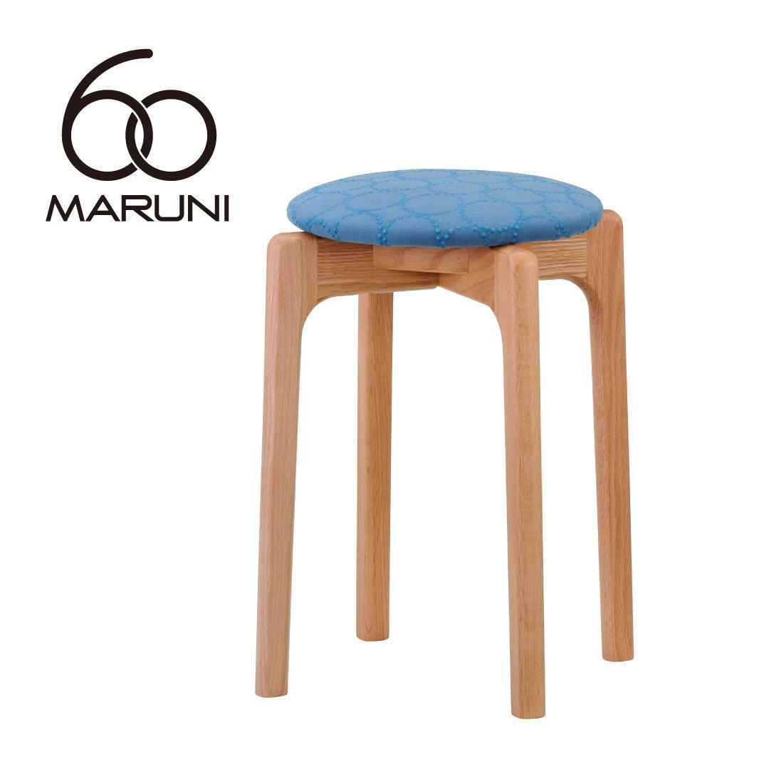 マルニ60+ オークフレーム  スタッキングスツール (ミナペルフォネンdop-tambourine/ブルー )