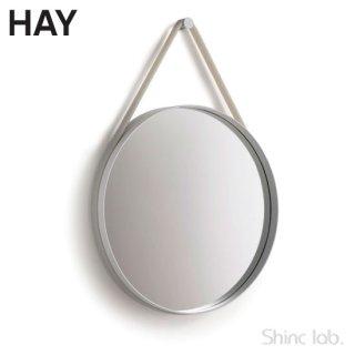 HAY STRAP MIRROR φ50 Gray