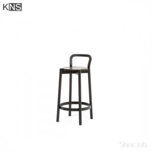 KARIMOKU NEW STANDARD CASTOR  BARSTOOL Low with Backrest ブラック