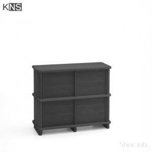 KARIMOKU NEW STANDARD PROP SIDEBOARD 100 ブラック
