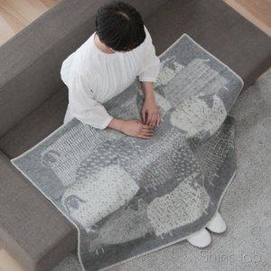 LAPUAN KANKURIT ブランケット PAKAPAAT 90×130cm グレー