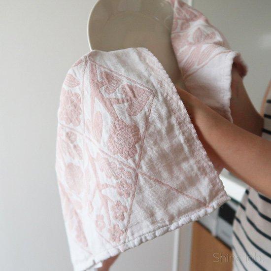 【ネコポス対応商品】<br>LAPUAN KANKURIT キッチンタオル KUKAT ローズ