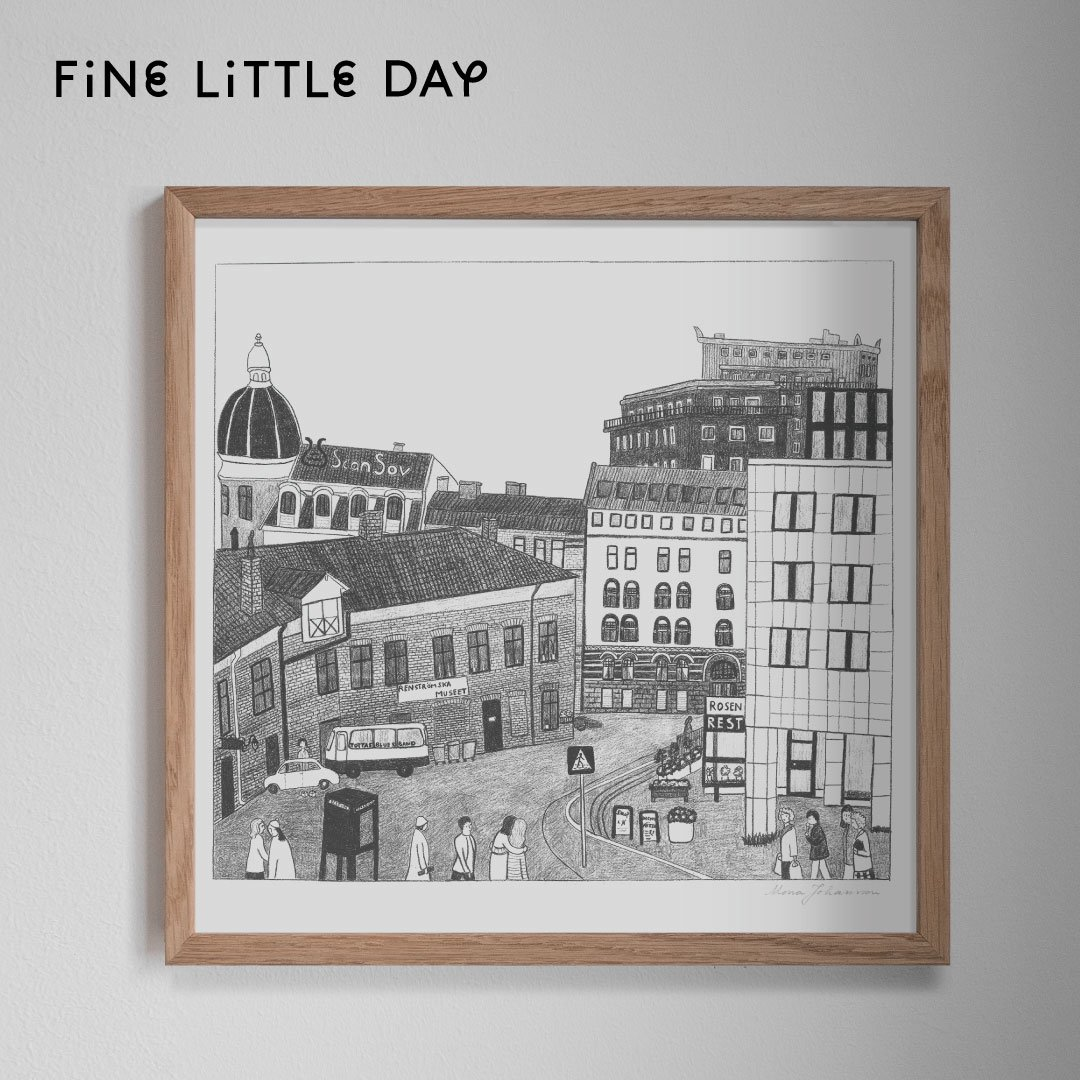Fine Little Day ポスター KVARTER  50×50cm