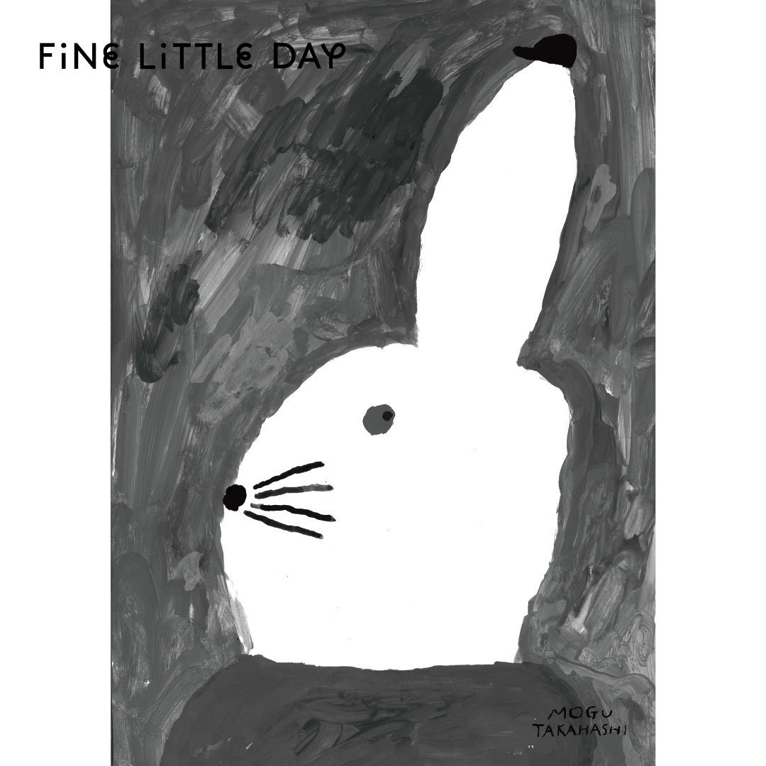 Fine Little Day ポスター RABBIT WITH SMALL HAT ウサギ 50×70cm