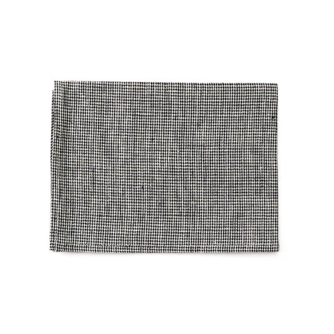 【ネコポス対応商品】<br>fog linen work(フォグリネンワーク) リネンキッチンクロス 白黒千鳥格子