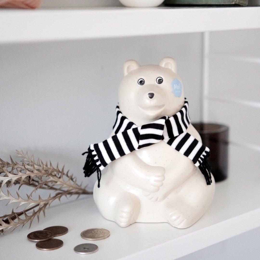 【数量限定!】Polar Bear Money Box シロクマ貯金箱 2020