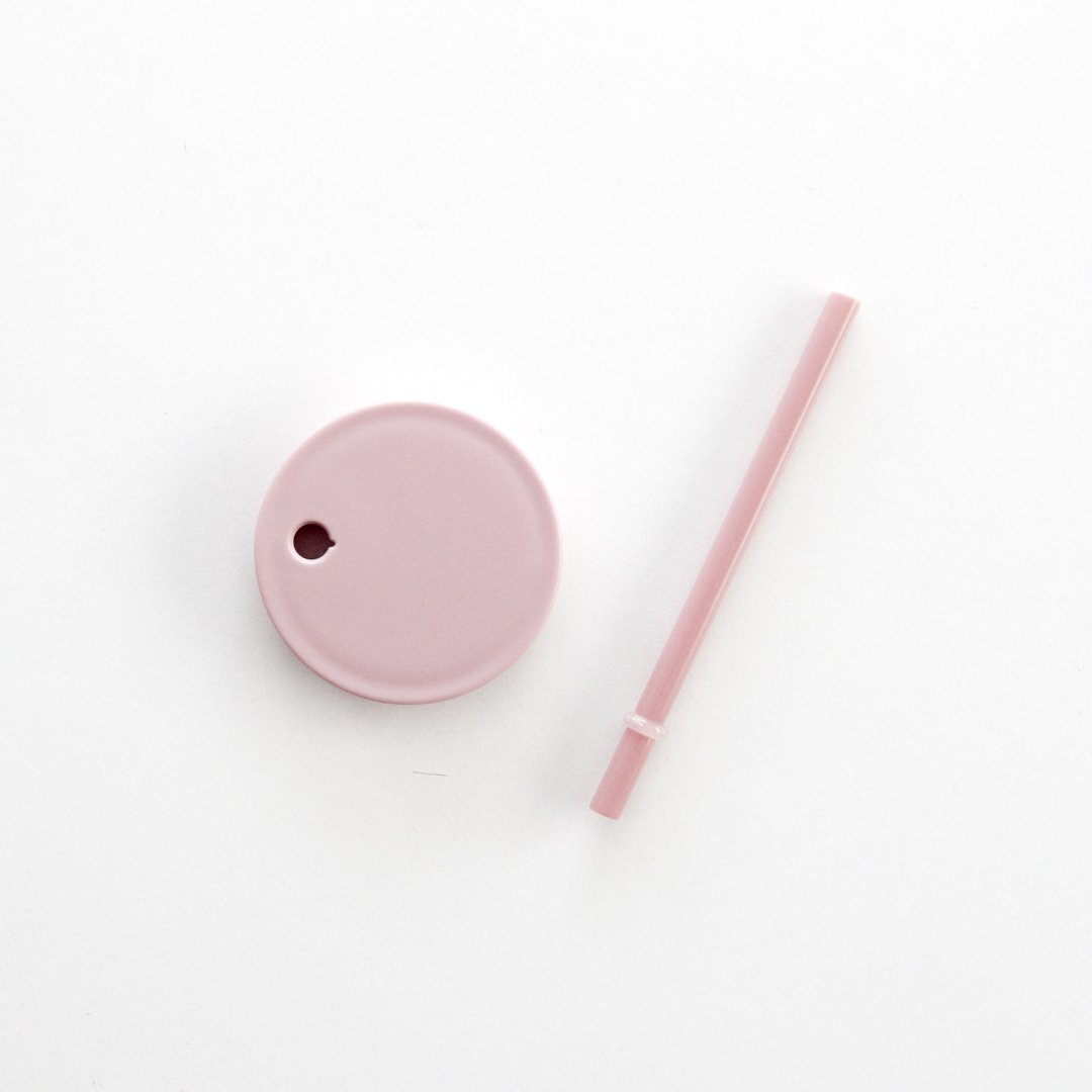 DESIGN LETTERS フタ付ストロー/ヌード