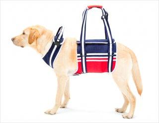 歩行補助ハーネス 大型犬用 トリコロール