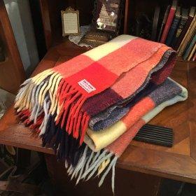 アメリカ or カナダのヴィンテージ毛布 * ヴァージン・ウール100% * 上質なブランケット【 アンティーク1904-05 】