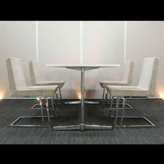 【上品に、優しく空間を彩る】【テーブル+チェア�脚セット】【中古】SOGO KAGU(相合家具) 幅1500mm