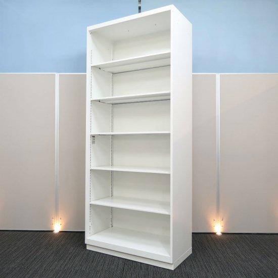 【スタンダード】【中古】【オープン書庫】イトーキ/シンライン ホワイト色 高さ2140mm