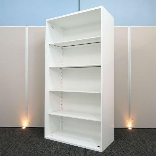 【空間を明るくする ホワイト色】【オープン書庫】【中古】コクヨ/エディア 高さ1750mm