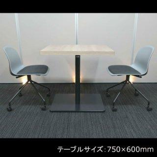 【洒落たウッドパターンのテーブルに、落ち着きのある色調のシェルチェアをセット】【テーブル & チェア�脚セット】【中古】オカムラ/アルトピアッツァ(テーブル)+イトーキ/ニーノ(チェア)