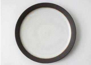 黒土リム大皿|三木あゆみ