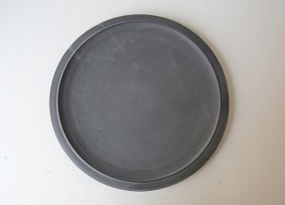 黒泥皿 尺|3rd ceramics
