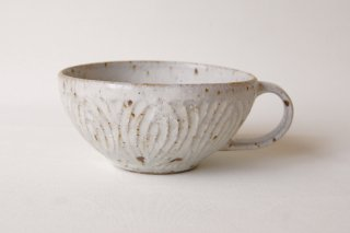 花紋スープカップ・白|伊藤豊