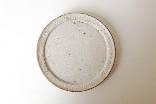 波紋5.5寸皿・白|伊藤豊