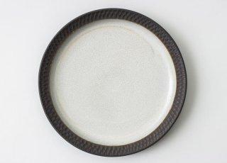 黒土リム6寸皿|三木あゆみ