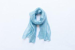 ストール シルク(クレープ) 藍生葉