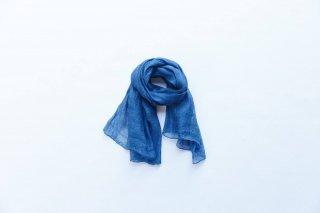 ストール シルク(紬) 藍