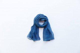 ストール シルク(クレープ) 藍