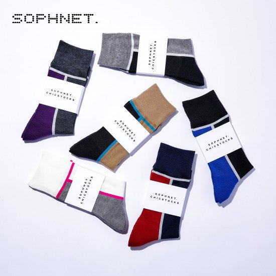 SOPHNET.×CHICSTOCKS  00 White