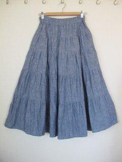 5段ティアードスカート型紙