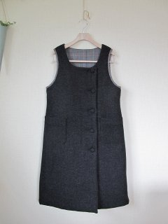 リバーシブルジャンパースカート型紙