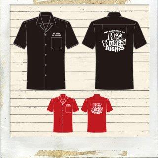NO NUKES RIGHTS オープンカラーシャツ