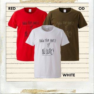 NO NUKES RIGHTS ファインジャージーTシャツ