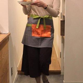 viincollection/エプロンミニ ギャルソン オレンジ
