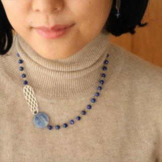 eunnamu/ シルバーと青のネックレス