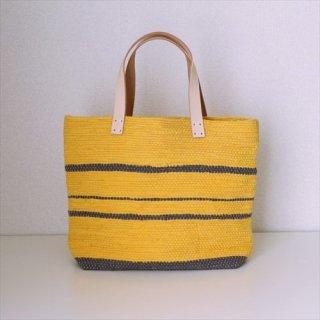 韓色裂き織バッグ M よこなが 黄