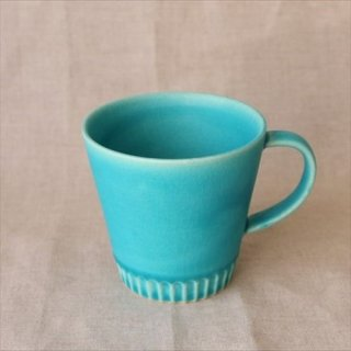 STRIPE マグカップ ターコイズ