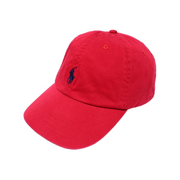 POLO RALPH LAUREN COTTON TWILL SPORTS HAT [ RED ] / ラルフローレン 6パネル キャップ