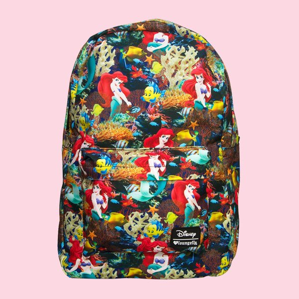 LOUNGEFLY × DISNEY ARIEL PHOTO REAL BACKPACK / ラウンジフライ  ディズニー バックパック