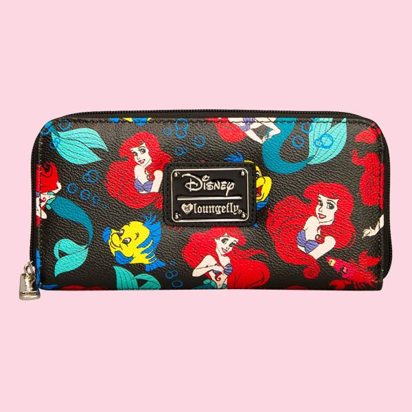 LOUNGEFLY × DISNEY LITTLE MERMAID CLASSIC PRINT PEBBLE WALLET / ラウンジフライ  ディズニー ウォレット