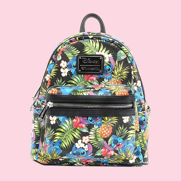 LOUNGEFLY × DISNEY STITCH PINEAPPLE MINI FAUX LEATHER BACKPACK / ラウンジフライ ディズニー バックパック