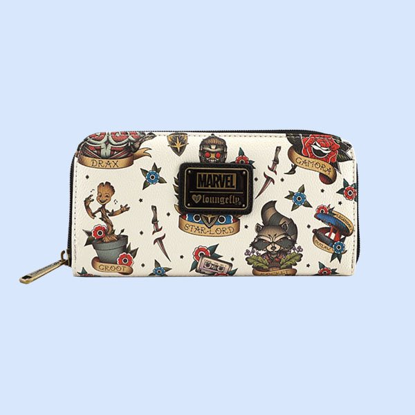 【再入荷】LOUNGEFLY × MARVEL GUARDIANS OF THE GALAXY TATTOO FLASH PRINT WALLET / ラウンジフライ マーベル ウォレット