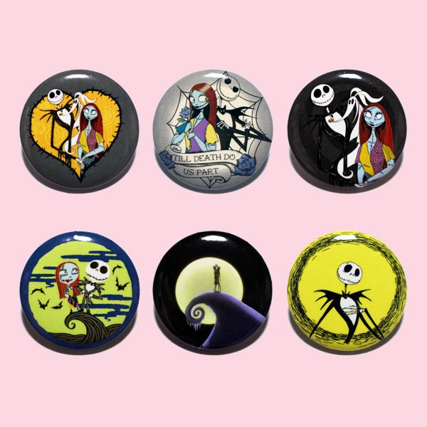 LOUNGEFLY × DISNEY NIGHTMARE BEFORE CHRISTMAS PIN 【A】 / ラウンジフライ ディズニー 缶バッチ