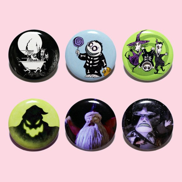 LOUNGEFLY × DISNEY NIGHTMARE BEFORE CHRISTMAS PIN 【D】 / ラウンジフライ ディズニー 缶バッチ