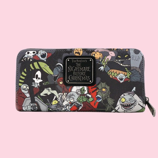 LOUNGEFLY × DISNEY NIGHTMARE BEFORE CHRISTMAS CHARACTER ZIP AROUND WALLET / ラウンジフライ  ディズニー ウォレット