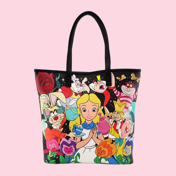LOUNGEFLY × DISNEY ALICE CHARACTER PRINT TOTE BAG / ラウンジフライ  ディズニー トートバッグ
