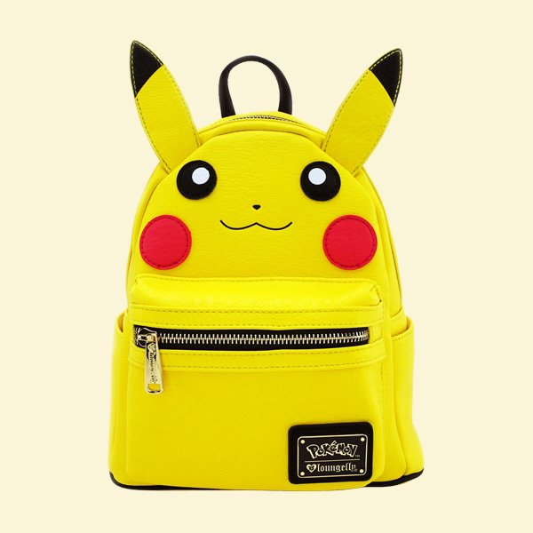 LOUNGEFLY × POKEMON PIKACHU COSPLAY FAUX LEATHER MINI BACKPACK / ラウンジフライ ポケモン バックパック