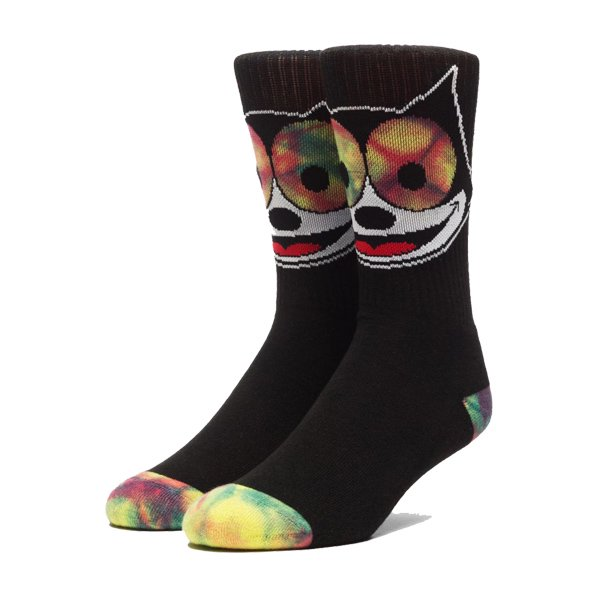 <img class='new_mark_img1' src='https://img.shop-pro.jp/img/new/icons20.gif' style='border:none;display:inline;margin:0px;padding:0px;width:auto;' />HUF × FELIX THE CAT HYPNOTIZE CREW SOCK / ハフ フィリックス ソックス
