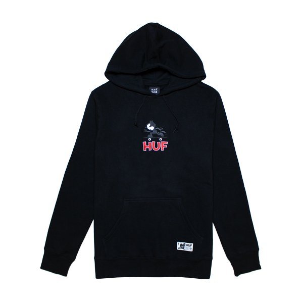 HUF × FELIX THE CAT SKATE PULLOVER HOODIE [ BLACK ] / ハフ フィリックス パーカー