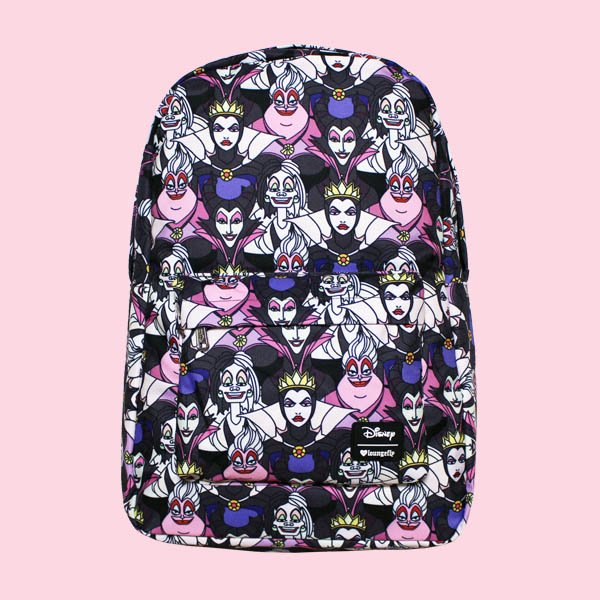 <img class='new_mark_img1' src='https://img.shop-pro.jp/img/new/icons20.gif' style='border:none;display:inline;margin:0px;padding:0px;width:auto;' />LOUNGEFLY × DISNEY VILLAINS PRINT BACKPACK / ラウンジフライ  ディズニー バックパック