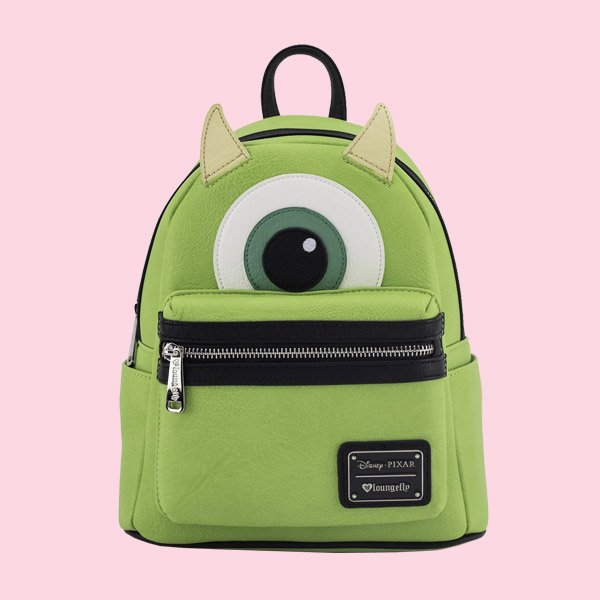 LOUNGEFLY × DISNEY MONSTERS INC. MIKE MINI FAUX LEATHER BACKPACK / ラウンジフライ ディズニー バックパック