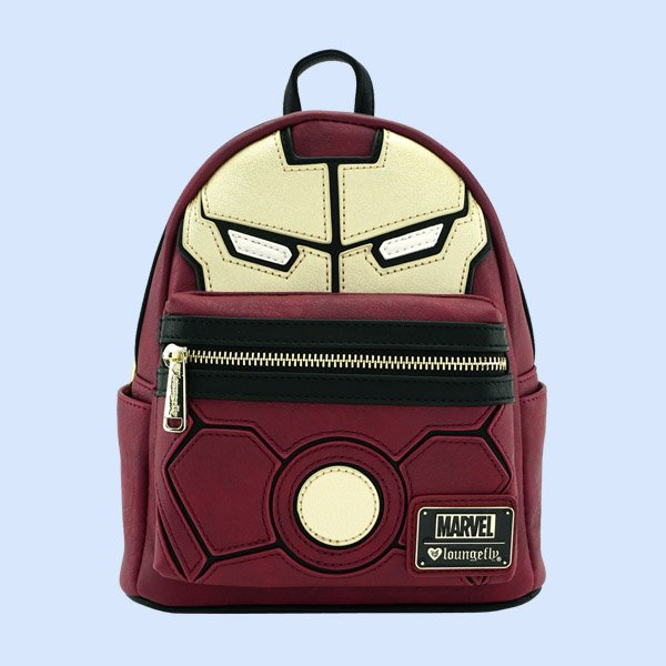 LOUNGEFLY × MARVEL IRON MAN COSPLAY FAUX LEATHER MINI BACKPACK / ラウンジフライ マーベル バックパック